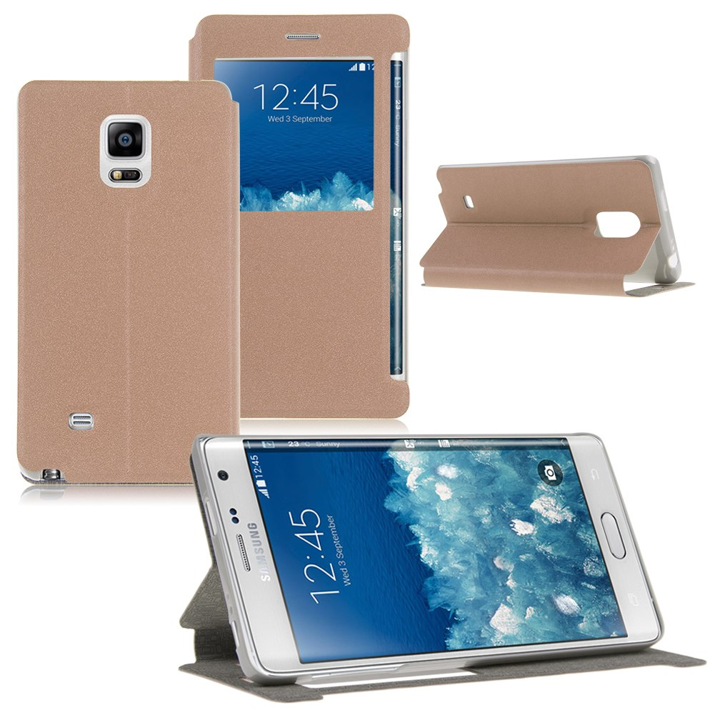 newest 91caf 4fe16 NOTE EDGE HIGH QUALITY LEATHER FLIP CASE FOR SAMSUNG NOTE EDGE/NOTE4 ...